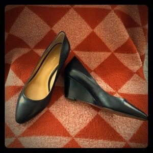 Nine West Black Wedge Heels